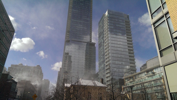 View from 19 Yorkville in winter